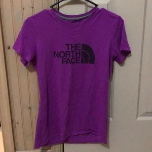 Purple The North Face Tee